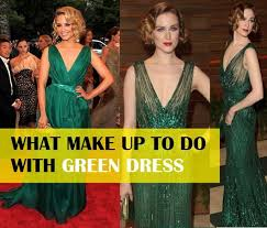how to do makeup with green dress for party dress like tail gown sari salwar suit etc get inspiration from celebrities for makeup with green dress