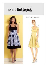 Mccalls Patterns Best B48 Misses' Fit And Flare Dresses Sewing Pattern Butterick