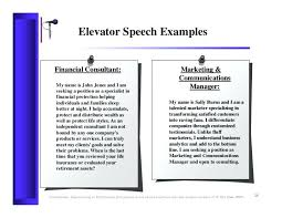 Personal Elevator Pitch Example Branding Examples Speech Template ...