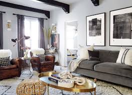 brady tolbert design emily henderson living room eclectic pavillion grey farrow and ball brass coffee table
