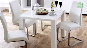 Square Kitchen Table For 4 White High Gloss Square 4 Seater Dining Table Youtube