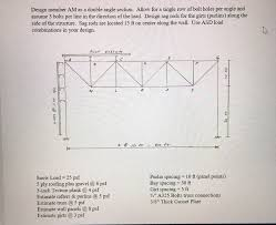 Single Angle Design Design Member Am As A Double Angle Section Allow