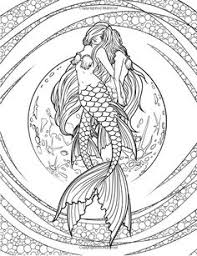 Small Picture Adult Printable Mermaid Coloring Pages Coloring Page For Adults