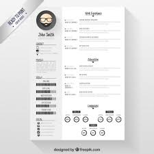 Download Modern Resume Tempaltes Modern Resume Template Vector Free Download