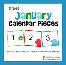 Calendar Numbers For Pocket Chart January Pocket Chart Calendar Pieces
