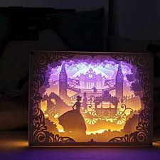 3d Photo Light Box Team Work Papercut Light Boxes Cinderella Creative