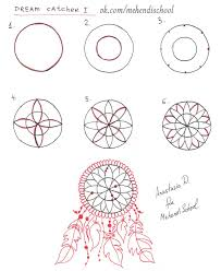 Dream Catcher Patterns Step By Step Custom 32 Collection Of Dream Catcher Drawing Tutorial High Quality