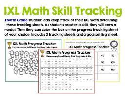 Ixl Progress Chart Fourth Grade Ixl Math Tracking In 2019 Products Ixl Math