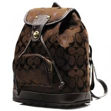 Coach Classic In Signature Medium Coffee Backpacks CBL