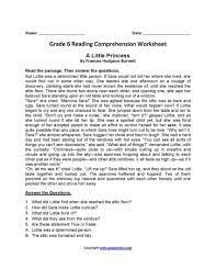 Maybe you would like to learn more about one of these? 30 Sixth Grade Reading Comprehension Worksheets