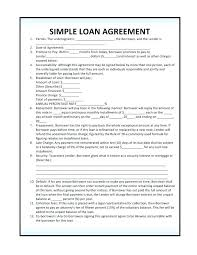 Sample Finance Loan Contract Agreement Free Form Template – Goeventz.co