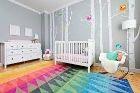 view in gallery custom rug and wall decals from ydc design for the contemporary nursery