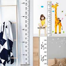 Wall Sticker Height Ruler Scale Chart Measure Kids Room