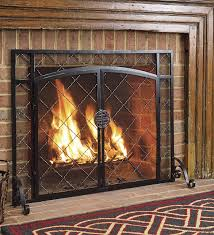 cute fireplace screens with doors
