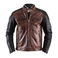 motorcycle jackets helstons cruiser leather rag camel black