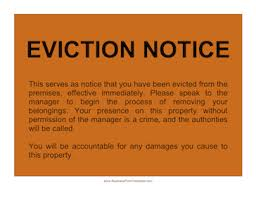 Eviction Notices Template Eviction Notice Template 38