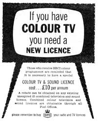 tv licence. 1936 the first regular bbc television broadcasts commence but reception does not require a licence as these had ceased in 1939 owing to outbreak of ww2 tv