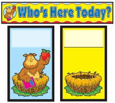 Whos Here Today Chart Attendance Replacement Cards Education Station Teaching