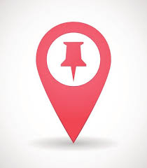 Map Mark Icon With A Pinpoint Stock Vectors And Illustrations