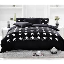 black and white star modern polyester print duvet covers