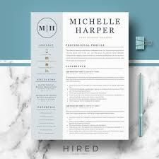 Modern Resume Design Cool Professional Modern Resume Template For Word And Pages Etsy