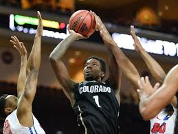 Colorado Buffaloes forward Wesley Gordon (1) shoots the ball over Souther  Methodist defenders during the Las Vegas Classic final between Southern  Methodist and Colorado at the Orleans Arena in Las … |