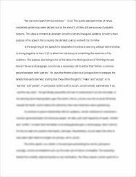 abraham lincoln speech passage analysis essay we can even learn this preview has intentionally blurred sections sign up to view the full version