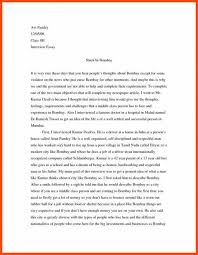 Example Of An Interview Essay Interview Essay Example