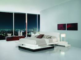 platform bed with lights  galaxy contemporary style bedroom set