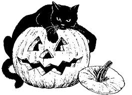 Small Picture Halloween Cat And Pumpkin Coloring Pages Animal Coloring Pages