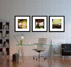 office wall art ideas. Office : Black Frame Wall Art Decorating Ideas With Glass Base Desk Also White Backrest Chair Plus Brick Helpful Tips A