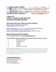 Free Resume Builder Download Fresh Usa Jobs Resume Builder