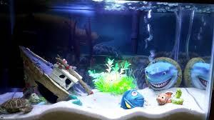 Fun Fish Tank Decorations Finding Nemo Themed Aquarium Fish Tank Youtube