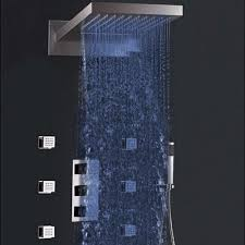 led color change thermostatic waterfall rain shower head installation instructions