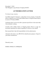 282982070 Pldt Authorization Letter Sample