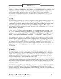 Event Synopsis Template Performance Improvement Sample Emergency Response Plan