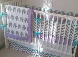 image of purple and teal nursery bedding at target