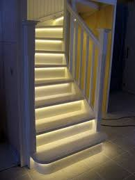 in stair lighting. LED Light Strips On Stairway. Great Idea For Basement Stairs. ESPECIALLY If There Is In Stair Lighting R