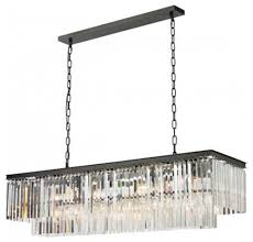 unique rectangle chandelier lighting odeon glass fringe with regard to awesome residence rectangle chandelier lighting decor