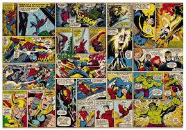 marvel comic heroes photo wall mural 368 x 254 cm on marvel comic book wall mural with marvel comic heroes photo wall mural 368 x 254 cm deco pinterest