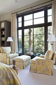 + ENLARGE. Yellow & Gray Master Bedroom Sitting Area