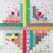 crazy mom quilts: the start of a traditional log cabin quilt & These are my first four blocks......and if I can say so myself, I think  it's going to be an amazing quilt!!! Each block will finish at 9