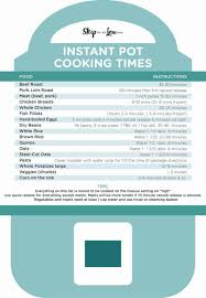 Instant Pot Conversion Chart Free Printable Instant Pot Cheat Sheet Skip To My Lou
