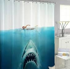 shark jaws shower curtains