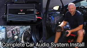 How To Design A Good Car Audio System Full Car Audio System Installation Speakers Subwoofer And Amplifier