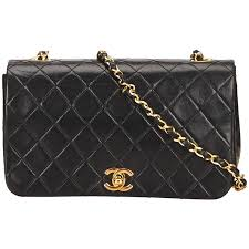 Black Chanel Quilted Lambskin Flap Bag For Sale at 1stdibs & Black Chanel Quilted Lambskin Flap Bag 1 Adamdwight.com