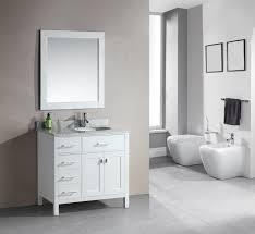 White Bathroom Vanity Cabinet Adorna 36 Single Bathroom Vanity White Finish
