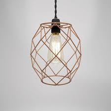 camden metal wire light fitting copper free delivery over 30 on all uk orders