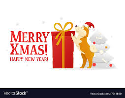 happy new years postcard merry christmas and happy new year postcard vector image