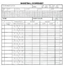Basketball Stat Book Template Sheet Football Score Format